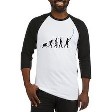 evolution of man fisherman Baseball Jersey