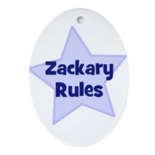 Zackary Rules Oval Ornament