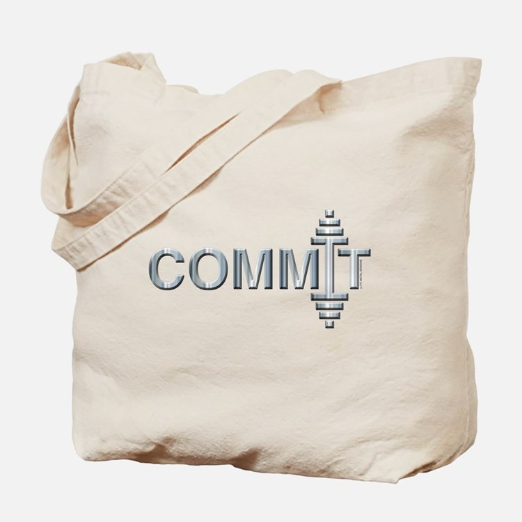 COMMIT - Fit Metal Designs Tote Bag