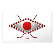 Japanese Ice Hockey Flag Decal