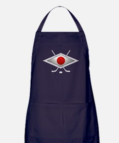 Japanese Ice Hockey Flag Apron (dark)