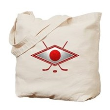 Japanese Ice Hockey Flag Tote Bag