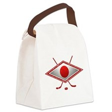 Japanese Ice Hockey Flag Canvas Lunch Bag