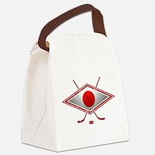 Japanese Ice Hockey Flag Canvas Lunch Bag