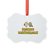 2 Beavers Ornament