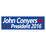 John Conyers for President 2016 sticker Bumper Sti