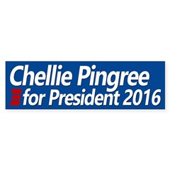 Chellie Pingree for President bumper sticker Bumpe