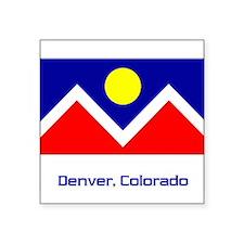 Denver CO Flag Rectangle Sticker