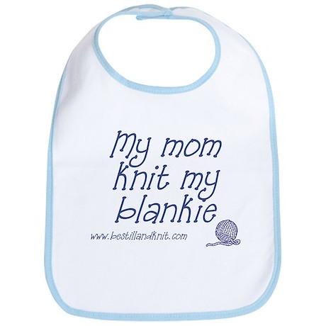 My Mom Knit my Blankie Bib