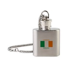 Limerick Ireland Flask Necklace