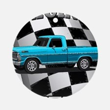 New Musclecar classic truck 1970 Ornament (Round)