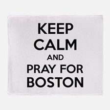 Keep calm and pray for boston Stadium Blanket