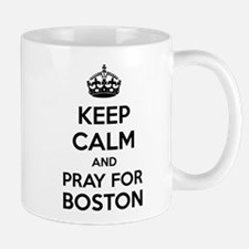Keep calm and pray for boston Mug
