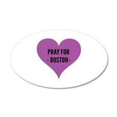 Pray for Boston 22x14 Oval Wall Peel
