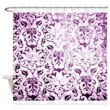 Brocade purple Shower Curtain