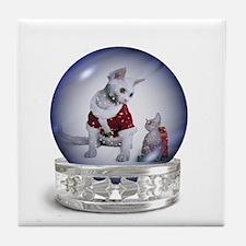 Snowglobe Santa Tile Coaster