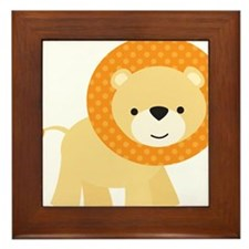 Cute Little Lion Framed Tile