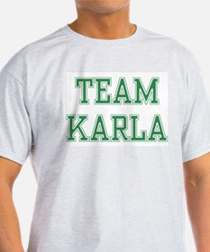 TEAM KARLA  Ash Grey T-Shirt