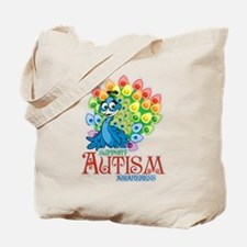 Autism Peacock Tote Bag