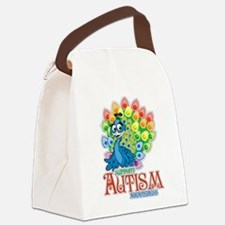 Autism Peacock Canvas Lunch Bag