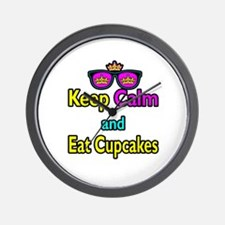 Crown Sunglasses Keep Calm And Eat Cupcakes Wall C
