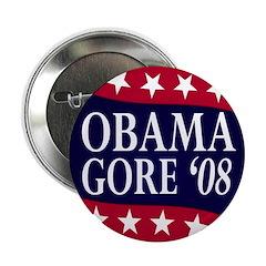 Obama-Gore '08 Button