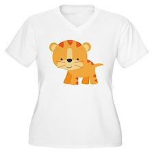 Cute Little Tiger Plus Size T-Shirt