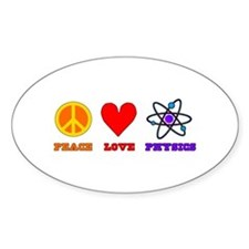 Peave Love Physics Decal