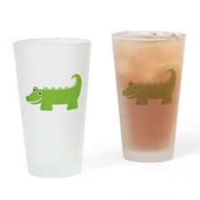 Cute Little Alligator Drinking Glass