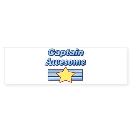 Captain Awesome2 Bumper Sticker