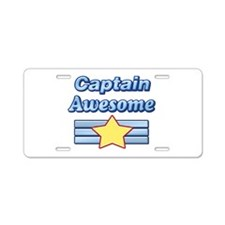 Captain Awesome2 Aluminum License Plate