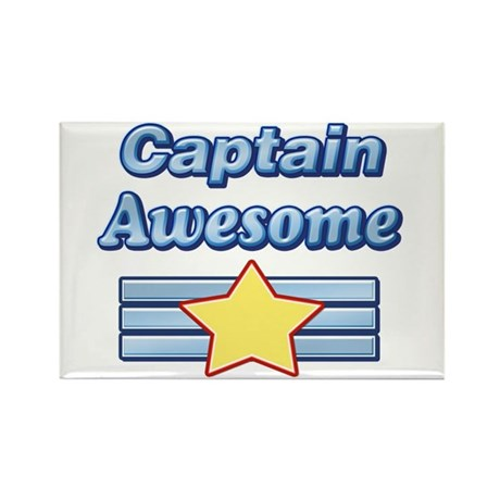 Captain Awesome2 Rectangle Magnet (10 pack)