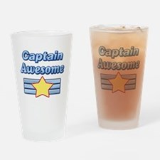 Captain Awesome2 Drinking Glass
