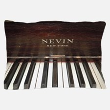 Nevins Player Piano Upright Keys Pillow Case