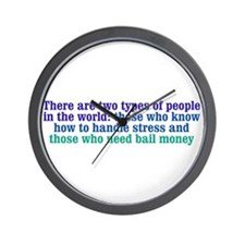 Dealing with Stress Wall Clock
