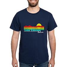 Retro LAKE TITICACA, Bolivia T-Shirt