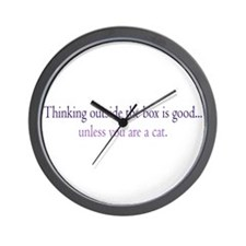 Cat Thinking Wall Clock
