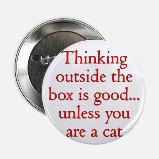 "Cat Thinking 2.25"" Button (10 pack)"