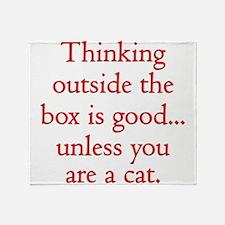 cat_box2 Throw Blanket