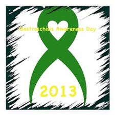"Awareness Day 2013 Square Car Magnet 3"" x 3"""