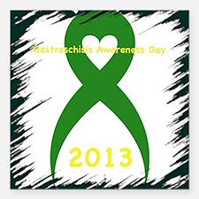 "Awareness Day 2013 Square Car Magnet 3"" x 3"""