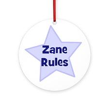 Zane Rules Ornament (Round)