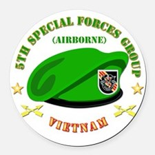 SOF - 5th SFG Beret - Vietnam. Round Car Magnet