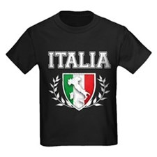Retro Italian Flag Crest T-Shirt