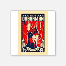 Doberman Patriotism! Rectangle Sticker