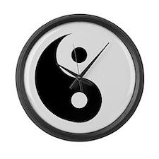 Yin & Yang (Traditional) Large Wall Clock