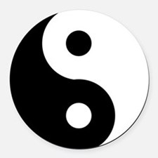 Yin & Yang (Traditional) Round Car Magnet