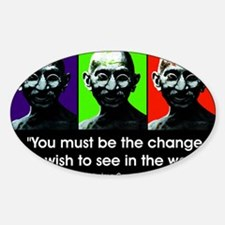 Be the change... Rectangle Decal