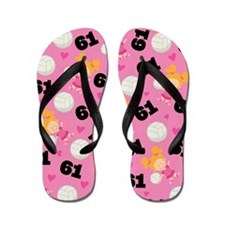 Volleyball Player Number 61 Flip Flops