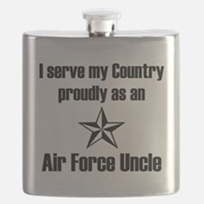 AF Uncle Proudly Serve Flask